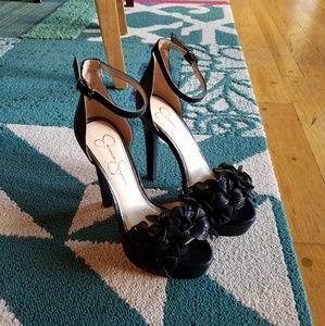 {Jessica Simpson} Black Platform Heels